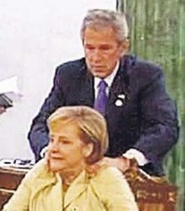 Bush Massages Merkel