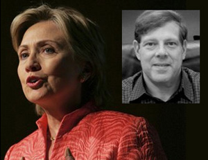 Clinton with top campaign advisor Mark Penn