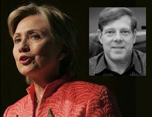 Clinton with top campaign advisor Mark Penn