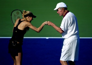 President Bush (41) and Anna Kournakova