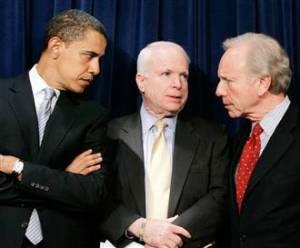Obama schools Lieberman