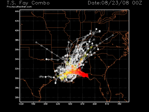 Tropical Storm Fay - Spaghetti Model