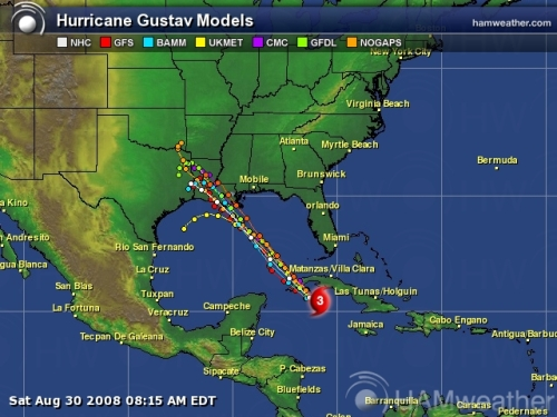 Hurricane Gustav Spaghetti Model 3