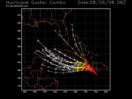 Hurricane Gustav - Spaghetti Model