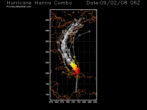 Hurricane Hanna Spaghetti Model 1