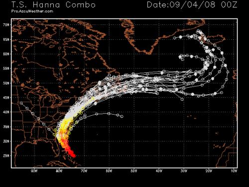Tropical Storm Hanna Spaghetti Model 1