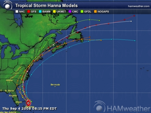 Tropical Storm Hanna Spaghetti Model 2