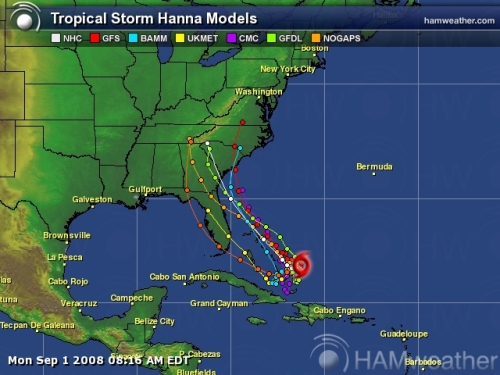 Tropical Storm Hanna Spaghetti Model 3