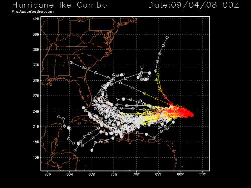Hurricane Ike Spaghetti Model 1