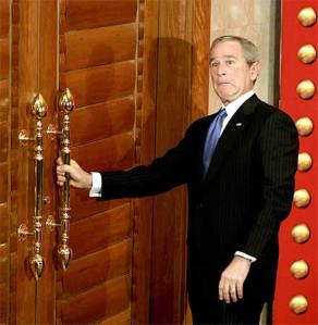 bush-locked-door