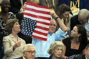 bush-olympics-flag
