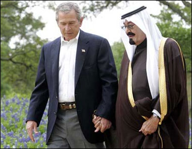 bush kissing saudi
