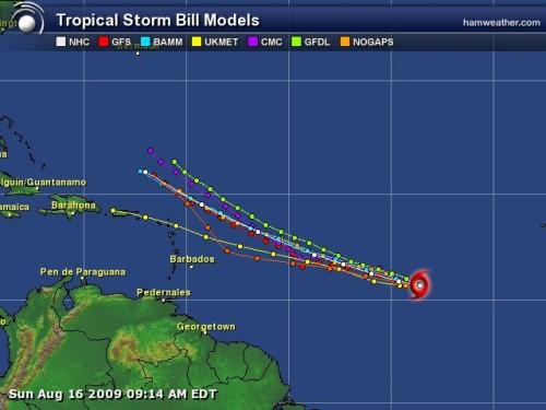Tropical Storm Bill - Spaghetti Model