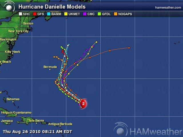 Hurricane Danielle Spaghetti Model